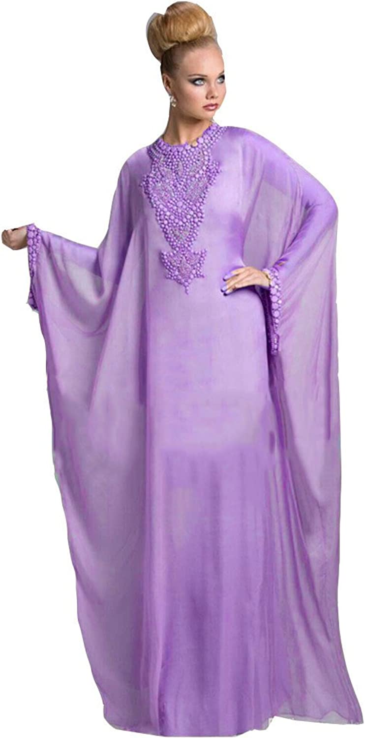 Ai Maria Women's Muslim Evening Dresses and Beaded Crystals Prom Mother Dresses