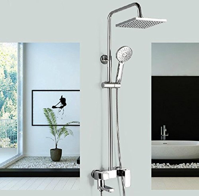 Gowe 20,3cm Duschkopf, viereckig chrom Finish Badezimmer Single Griff Dusche Wasserhahn