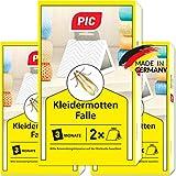 PIC Kleider-mottenfalle – Dreierpack = 6 Stück –...