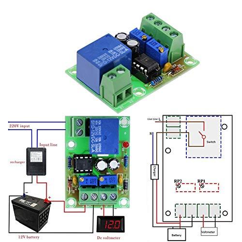 XYHHStor Relé 12V Carga de la batería Carga de la energía de Control Junta XH-M601 Cargador Inteligente de Potencia Panel de Control Automático Relé electrónico,