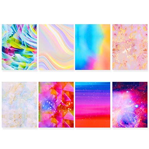 Noah Superieure Kwaliteit Holografische Vuur Vlam Eenhoorn Holle Sticker Vuur Nagel Art Manicure Sticker 01