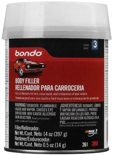 Bondo Body Filler, 00261, 1 pint (14oz)