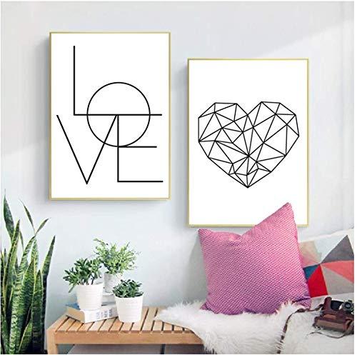 Surfilter Impresión en lienzo Moda Arte de la pared Imágenes Pintura en lienzo Dormitorio Decoración de la pared Pestaña Amor Hello Vogue Carteles e impresiones 23.6& rdquo; x 31.4& rdquo; (60x80