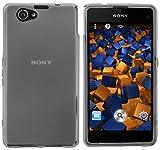 mumbi Funda Compatible con Sony Xperia Z1 Compact, Negro Claro