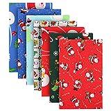 TOYMIS 7 Stück 50 x 50 cm Weihnachten Baumwolle Stoff