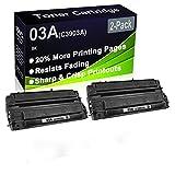 Paquete de 2 cartuchos de tóner negro compatible 03A C3903A (alta capacidad) para impresoras HP LaserJet Pro 5mp, 5p, 6mp, 6p, 6pse, 6Pxi