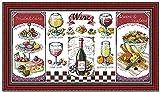 Kits de point de croix estampé vin et dessert débutant pour adultes gamme complète bricolage point d'aiguille artisanat décoration de la maison pour enfants 40X50 CM 11CT fournitures pré-imprimées