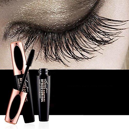 Efforty Mascara Cream 4D Wimpern mit Fiber Sets Wasserdicht Mascara Eye Black Wimpernverlängerung...