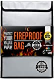 Fireproof Document Bags (2000℉), Protect Important Documents, Fireproof Bags (Extra Strength), Waterproof