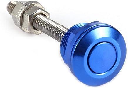 Blue Everpert Universal 22mm Push Button Bonnet Hood Pin Lock Clip Kit Car Quick Release Latch