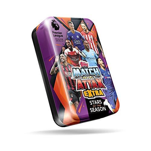Match Attax 2018-19 Topps Extra EPL Karten – Mega Tin (50 Karten + LE Superstar Raheem Sterling Card) Check Out Pogba, Van Dijk & Hazard Cards in Dieser Dose!