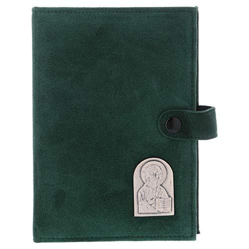 Holyart Funda Biblia Jerusal?n Cuero gamuzado Verde