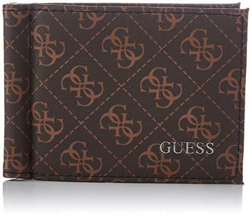 Guess VEZZOLA Money Clip CC, Accessori da Viaggio-Portafogli Uomo, Brown, One Size