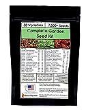 Complete Heirloom Vegetable Garden Variety Seed Kit - 30 Varieties,...