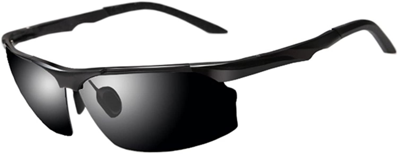 HONGYANDAI Sunglasses Polarized Glasses for Men and Women 100% AntiUv Driving Goggles (Black)
