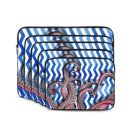 QUEMIN Funda para portátil con Estampado Octopus, maletín Resistente a los Golpes, Estuche para Tableta para MacBook Pro/MacBook Air/ASUS/DELL/Lenovo/HP/Samsung de 13 Pulgadas