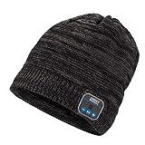 August Gorro de Punto con Bluetooth EPA20 Gorro Invierno Inalámbrico Auricular Regalos Originales Unisex Cálido y Suave Bluetooth Beanie Hat para Deportes al Aire Libre, Regalo Navidad