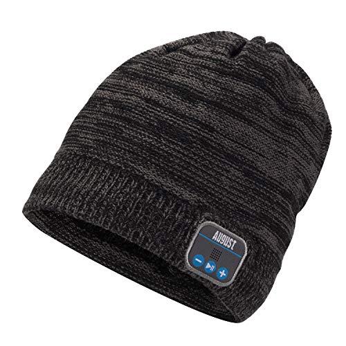 August EPA20 – Berretto Audio Bluetooth Stereo – Berrettino Termico Bluetooth con Cuffie Integrate, Microfono e Batteria Ricaricabile – Caldo e Morbido, Compatibile con Smartphone PC Tablet