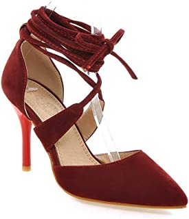 BalaMasa Womens ASL06504 Imitated Suede Stiletto Heels