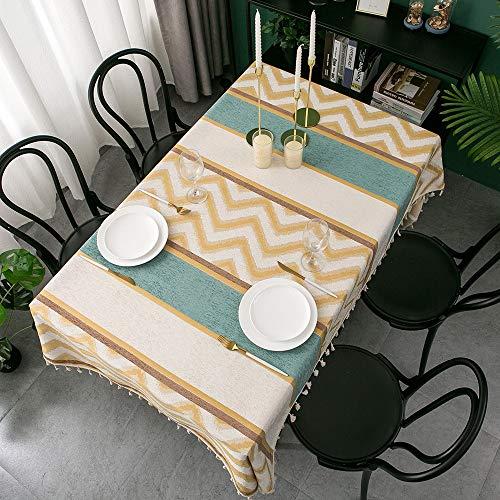 XXDD Mantel Moderno para el hogar, Mantel Rectangular de Gran tamaño, Mesa de Comedor Decorada con Escritorio de Sala de borlas A1 135x200cm