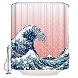 Minyose Sushi Cartoon Japanische Kultur Essen Duschvorhänge Bad Dekor Vorhang Wasserdicht Polyester Stoff Badzubehör 180 * 180Cm