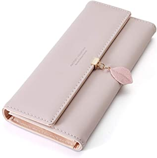 CYANB Wallets for Women Card Holder Leaf Pendant Snap Coin Purse