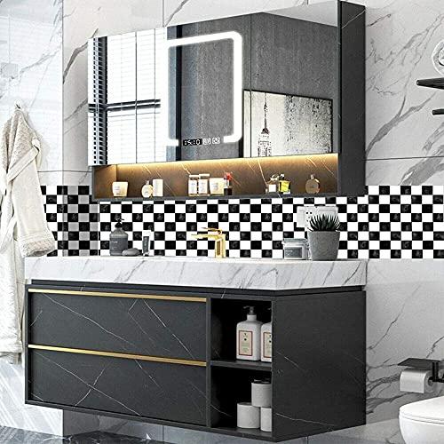 MSC059 - Adhesivo de azulejos de mosaico, 30 unidades, autoadhesivo, azulejos de pared, impermeable, papel para cuarto de baño y cocina (60 unidades de 10 x 10 cm)