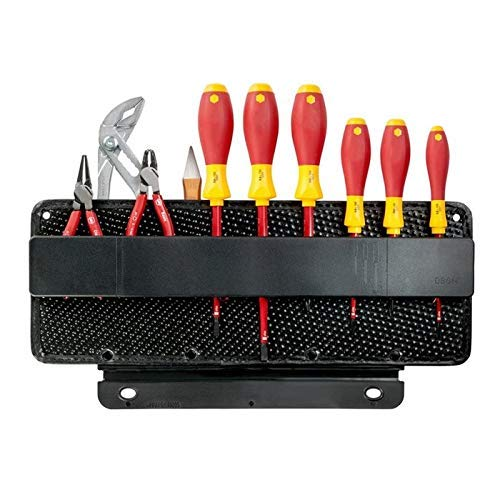 Parat Werkzeugtafel (Zubehör für PARAT Werkzeugkoffer, 2-Seitig; mit CP-7 Werkzeughalter, Material: Con-Pearl; schwarz (ohne Werkzeug))