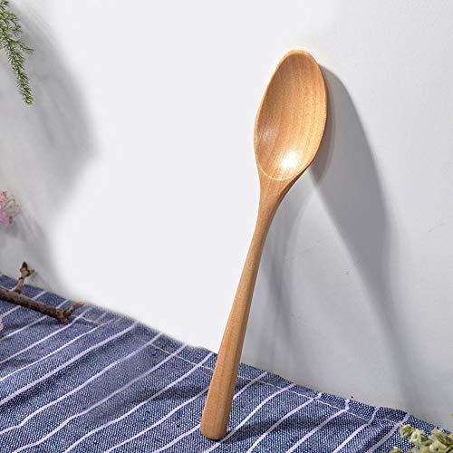 Lemoning Wooden Spoon Fork Bamboo Kitchen Cooking Utensil Tools Soup-Teaspoon Tableware