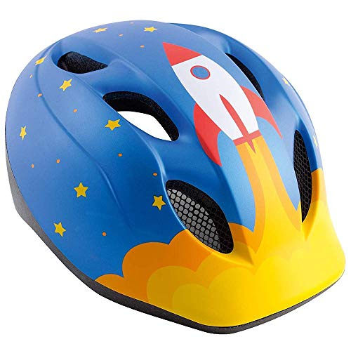 Met Casco Buddy Cohete S (46-53) Ciclismo Infantil, Adultos Unisex, Azul (Azul)