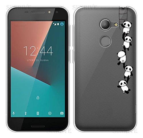 Sunrive Für Vodafone Smart N8 Hülle Silikon, Transparent Handyhülle Schutzhülle Etui Case Backcover für Vodafone Smart N8(TPU Panda)+Gratis Universal Eingabestift