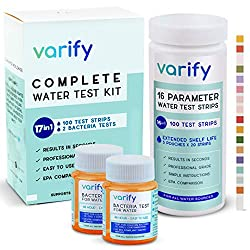 top 10 water test kit 17 in 1 Premium Drinking Water Test Kit – 100 Strips + 2 Bacterial Tests – Household Water Quality Test…