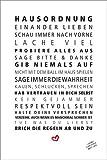 Poster 20 x 30 cm: Hausordnung von Formart - Zeit für