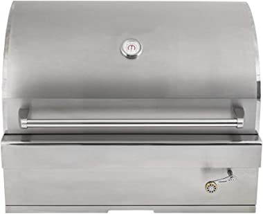 Barbeques Galore 32-inch Turbo Charcoal Built-in Stainless Steel BBQ Grill with Charcoal Tray - 32CHARCOALG