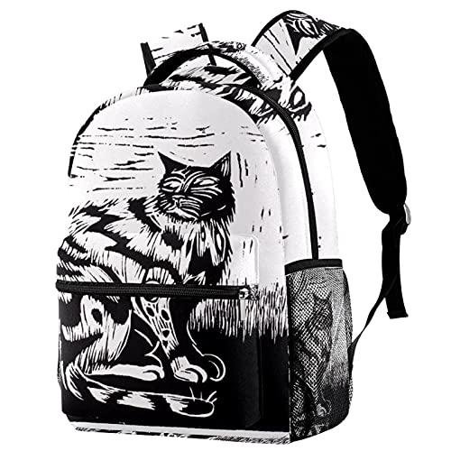 Mochila de la escuela para los muchachos de las muchachas adolescentes, bolso escolar durable del modelo abstracto para el estudiante medio, Multicolor 07,