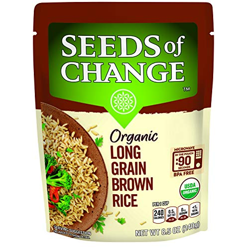SEEDS OF CHANGE Organic Long Grain Brown Rice, 8.5 Ounce (Pack of 12)