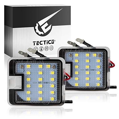 TECTICO LED Umfeldbeleuchtung 6000K Kaltweiß E Prüfzeichen Canbus Außenspiegel Spiegel Umgebungslicht für C-Max Fokus Kuga Escape Mondeo, 2 Lampen