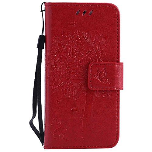 BoxTii® Coque iPhone Se/iPhone 5 / 5s, iPhone Se/iPhone 5 / 5s Housse Coque, Etui pour iPhone Se (#6 Rouge)