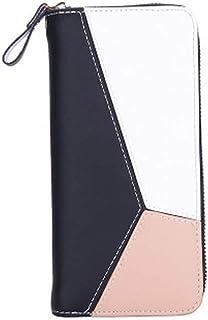 Carteras para mujer de piel sintética suave, cierre larga, gran capacidad, con hebilla, cartera y tarjetas