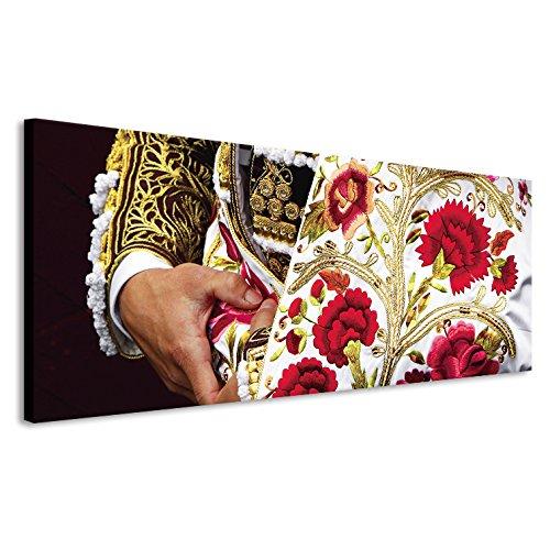 khevga Tableau Mural en m/étal Motif Fleurs 38 x 50 cm