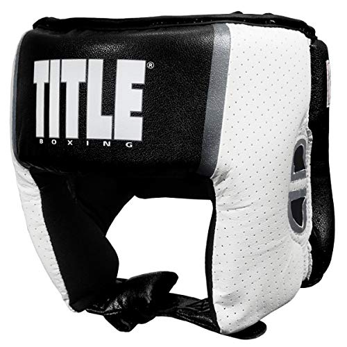 Title Boxing Aerovent USA Boxing Competition Headgear (Open Face), Black, Medium