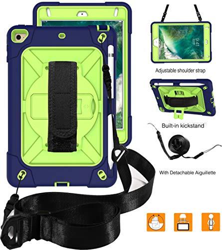 RLTech Case For Samsung Galaxy Tab S5E - 360 Rotating Heavy Duty Three Layer Armor Shockproof Rugged Protective Cover for Samsung Galaxy Tab S5E T720/T725 with Kickstand, Blue/Green