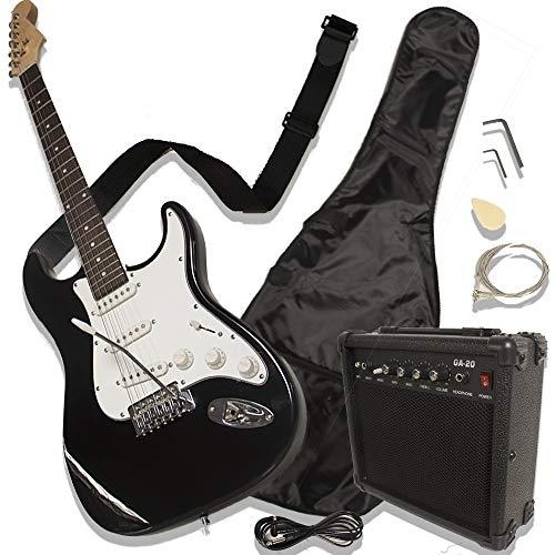 Guitarra eléctrica con amplificador (Negra)
