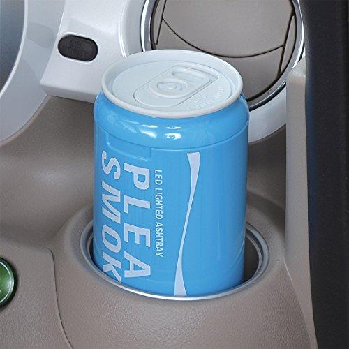 セイワ(SEIWA)車用灰皿カラー缶アッシュドリンクホルダー型ブルーLED付きW889