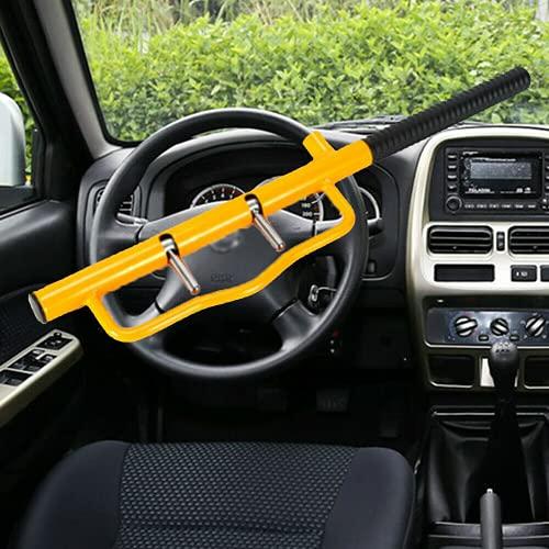 Cepo para volante de coche, antirrobo, con 2 llaves de seguridad