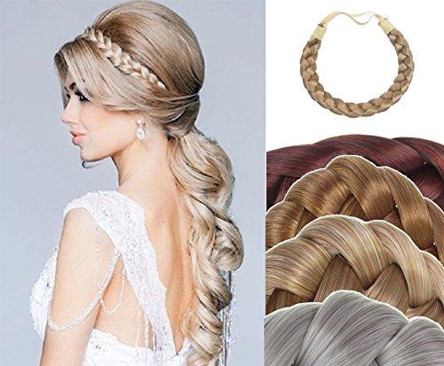 VANESSA GREY Toutes les couleurs disponibles, Tresse tressée bandeau postiche volumineuse cheveux extension, avec dos élastique