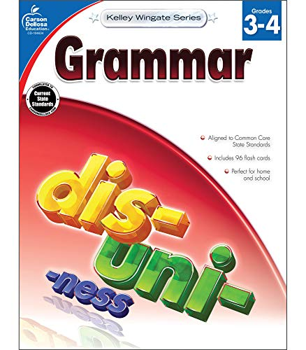 Carson-Dellosa Kelley Wingate Series Common Core Edition Grammar Workbook, Grades 3 - 4 (Ages 8 - 10)