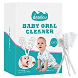 42 PCS Baby Toothbrush, Newborn Baby Tongue Cleaner Toothbrush Clean Baby Gums Disposable Tongue Cleaner Soft Gauze Toothbrush Infant Oral Cleaning Stick Dental Care for 0-36 Months Baby