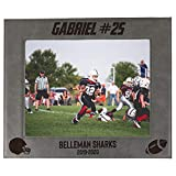Personalized Football Sports Picture Frame Gifts - Custom Engraved 4x6, 5x7, 8x10 Photo Frames for Athletes, Coaches, Teams, Kids, Award (Gray)