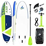 "AKD Sealion 10'6"" Stand Up Paddling Board 320x81x15cm SUP Board 150kg/318L, Pumpe mit Manometer, Verstellbarer Sport Alu-Paddel, Rucksack und Leash, Firmensitz in Berlin (Grasgrün)"